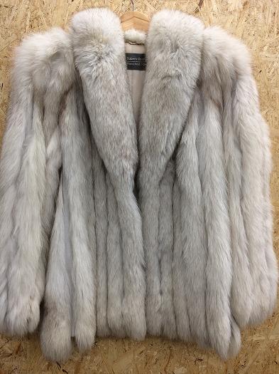 SAGA FOX ファーコート 毛皮コート レディーズ ホワイト 表記サイズ:11