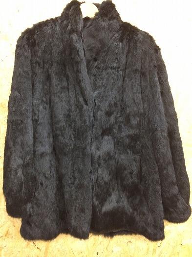 フォックス ファーコート 毛皮コート レディース ブラック