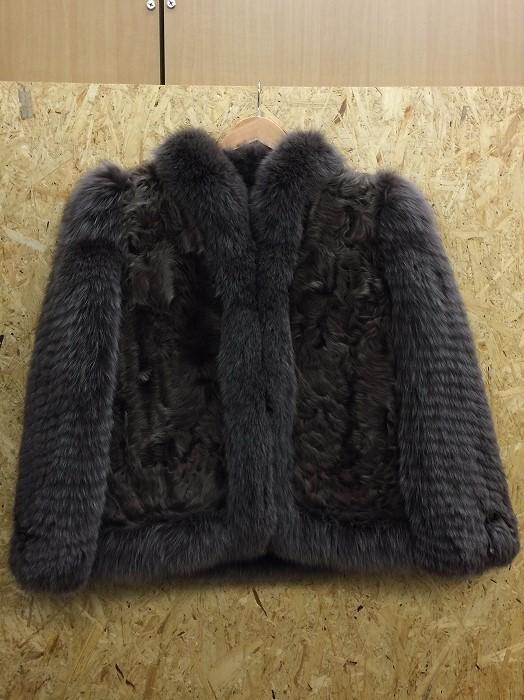 Logan Fur 毛皮コート ラム レディース ブラウン系