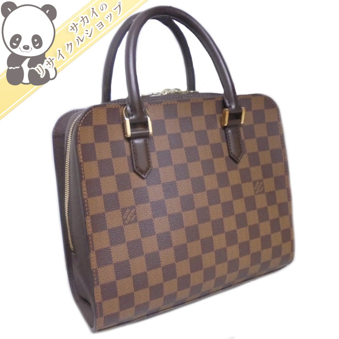 LOUIS VUITTON ルイヴィトン トリアナ ハンドバッグ ダミエ エベヌ N51155 【送料無料】【美品】