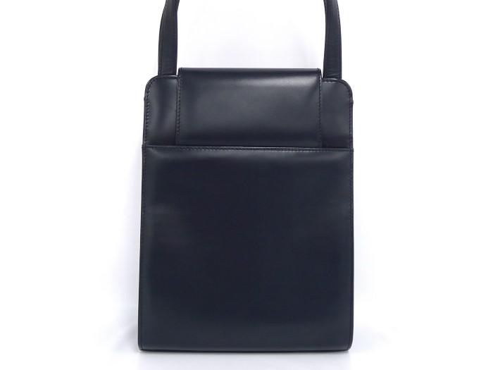 d77369cb656c CARTER カルティエ ハンドバッグ サファイアライン ブラック 【美品】【送料無料】 レザー-ハンドバッグ