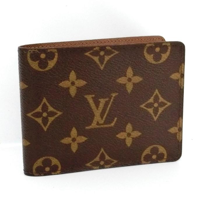 【中古】【美品】LOUIS VUITTON ポルトフォイユミュルティプル 二つ折り財布 札入れ モノグラム M60895