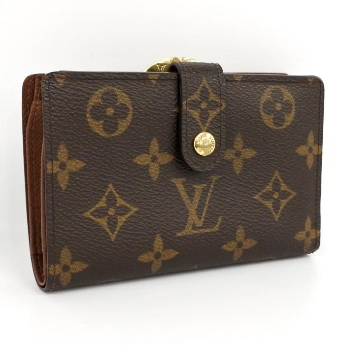 c5c0d7b5d505 LOUIS VUITTON ルイヴィトン 二つ折り財布 がま口財布 ポルトフォイユ・ヴィエノワ モノグラム M61674 【z80508