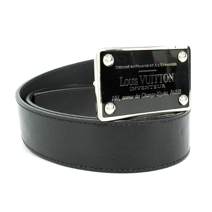 LOUIS VUITTON ルイ・ヴィトン ベルト サンチュール アヴァントゥール M6820 ノワール ブラック メンズ レザ ー 【z80519*hmn】