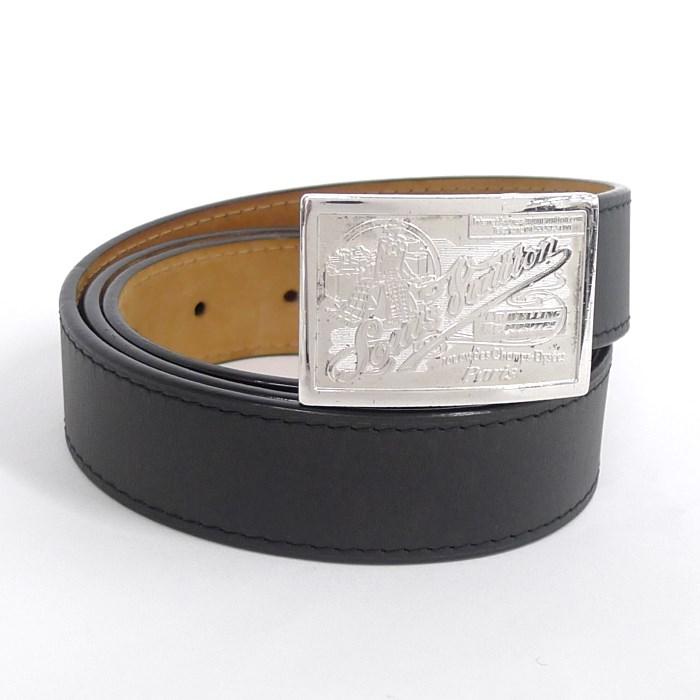 LOUIS VUITTON ルイヴィトン サンチュールジーンズ メンズベルト レザー ブラック M6812 【送料無料】