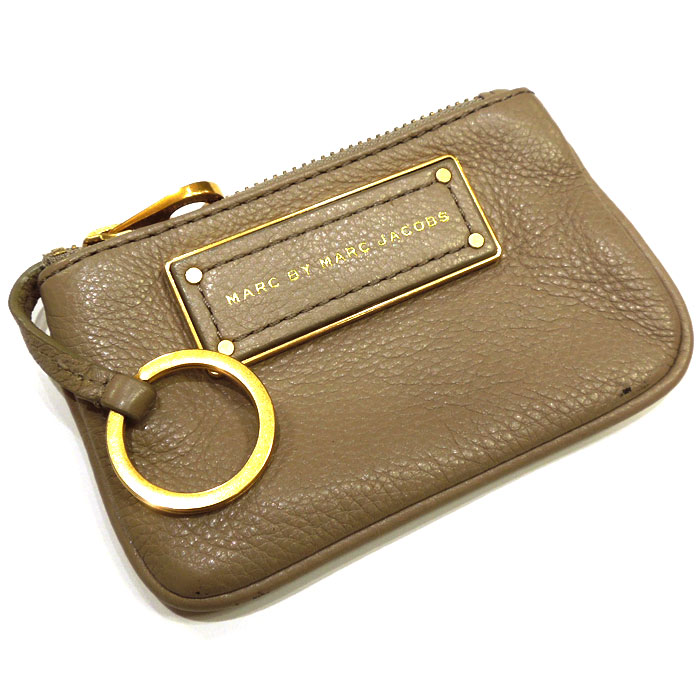 MARC BY MARC JACOBS マーク バイ マークジェイコブス コインケース キーリング レザー グレー