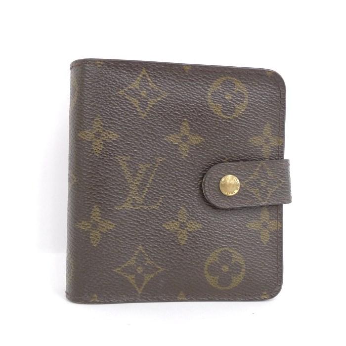 LOUIS VUITTON ルイ・ヴィトン 二つ折り財布 コンパクト・ジップ M61667 モノグラム 【z80705*hmu5n】