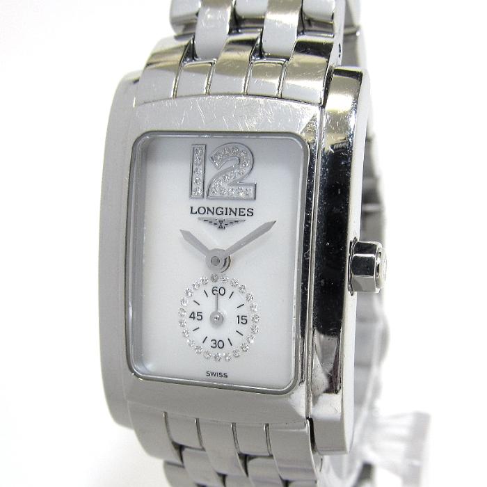 【中古】Longine ロンジン ドルチェヴィータ レディース腕時計 クオーツ 文字盤チェル SS L5.155.4