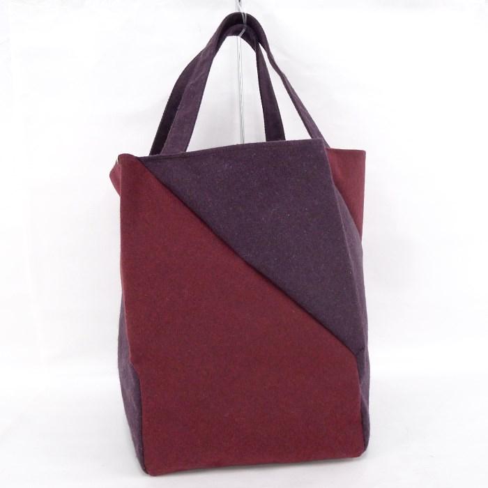 Per Tote Bag Handbag By Color Wool Purple Red