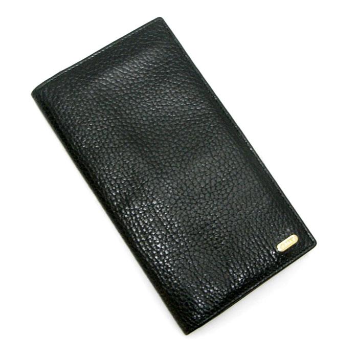 【中古】 バリー 二つ折り長財布 ブラック レザー