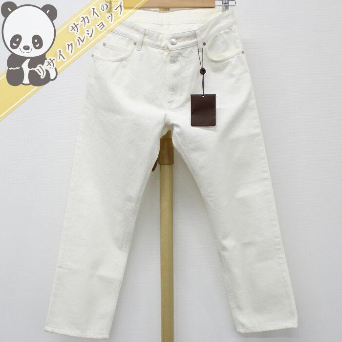 【中古】ルイヴィトン ホワイト デニム パンツ メンズ コットン 表記サイズ:40