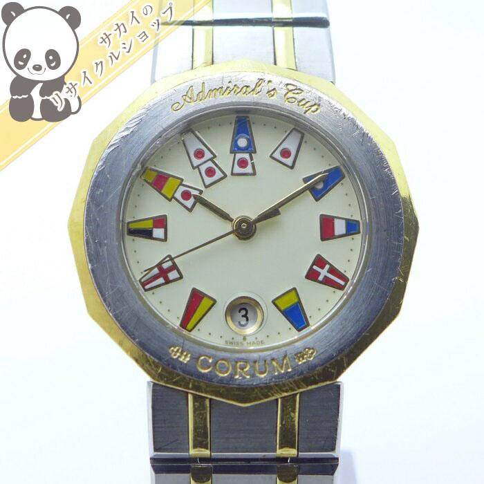 【中古】コルム レディース腕時計 アドミラルズカップ クオーツ SS/K18YG アイボリー文字盤 39.610.21V52