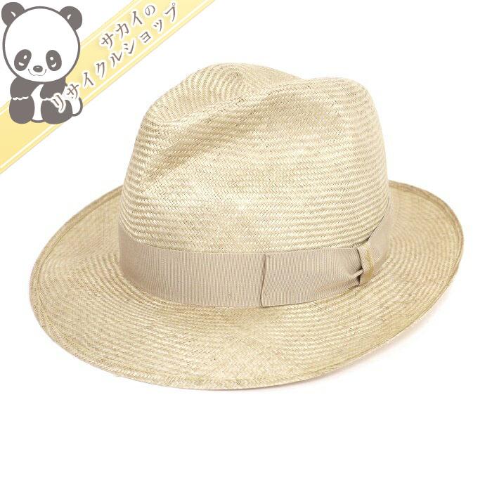 【中古】ボルサリーノ パナマ帽 ナチュラル ストロー100% 表記サイズ:56