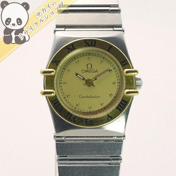 【中古】OMEGA レディース腕時計 コンステレーション SS/YG クオーツ ゴールド文字盤 6104