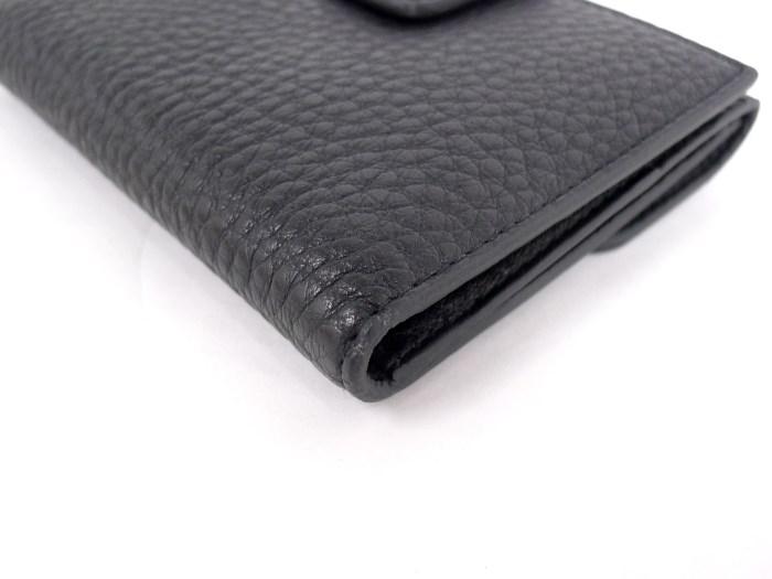 75975d35ba2b 【中古】プラダ Wホック二つ折り長財布 1M0523 ブラック レザー サフィアーノ-レディース財布