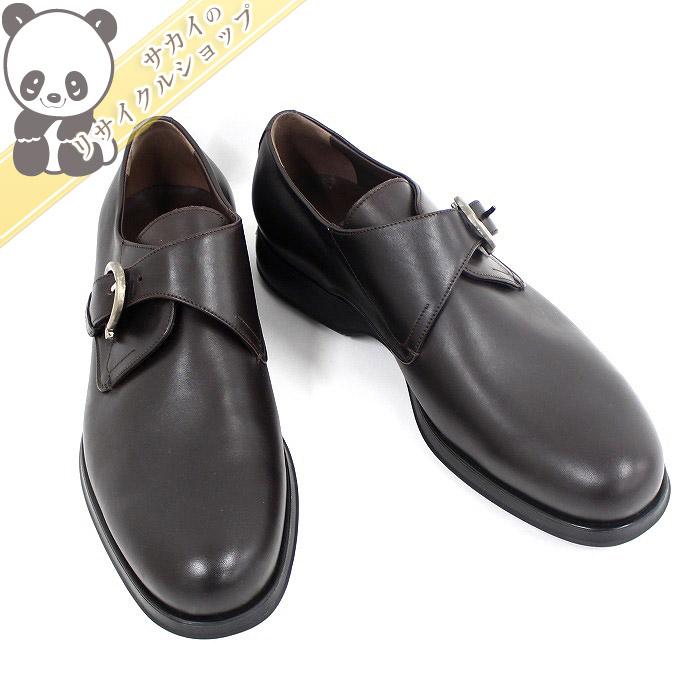 【中古】【未使用】Salvatore Ferragamo メンズ ローファー ビジネスシューズ 革靴 レザー ブラウン 表記サイズ7 3E