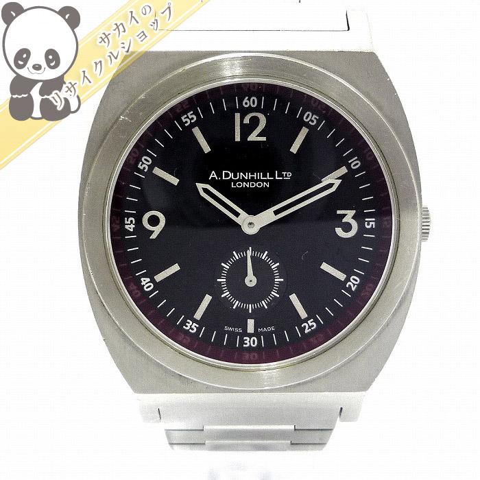 【中古】Dunhill メンズ腕時計 スモールセコンド SS クオーツ 文字盤ブラック 8034