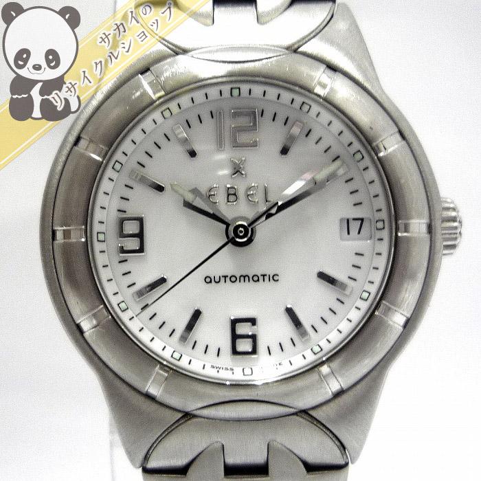 【中古】エベル Type E レディース腕時計 SS 自動巻き 文字盤ホワイト E9200C21