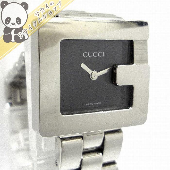 【中古】GUCCI レディース腕時計 Gロゴ Gモチーフ SS クオーツ 文字盤ブラック 3600L/Y2195761