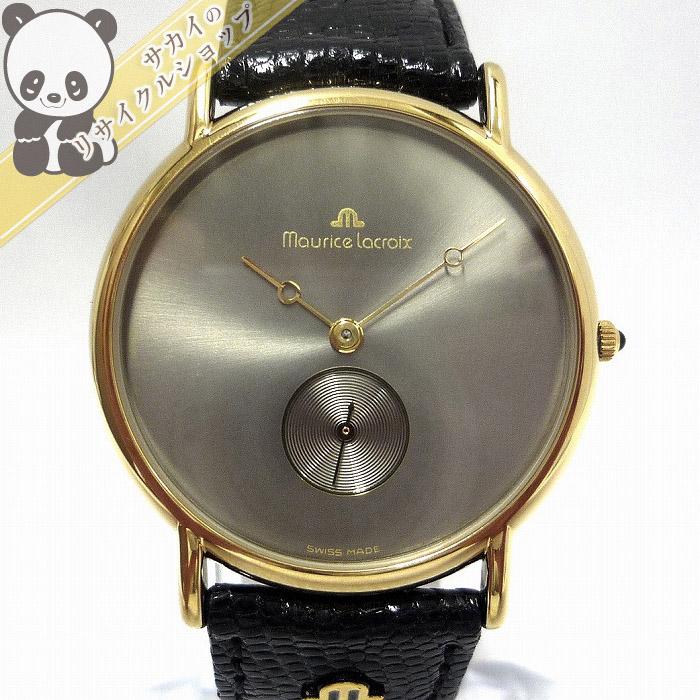 【中古】モーリスラクロア メンズ腕時計 スモールセコンド SS/レザー クオーツ 文字盤グレー CH-2726