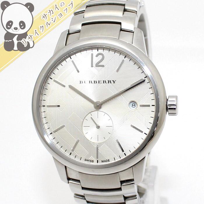 【中古】BURBERRY メンズ腕時計 クオーツ SS シャンパンゴールド文字盤 BU10004