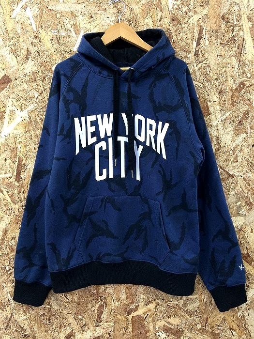 Number nine pullover parka men blue system camouflage pattern notation size: M[jggI]