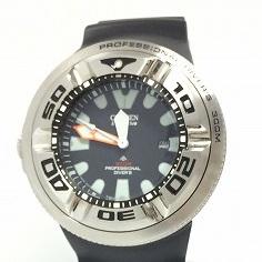 【中古】CITIZEN シチズン メンズ腕時計 エコドライブ ダイバーズウォッチ BJ8050-08E[jggW]