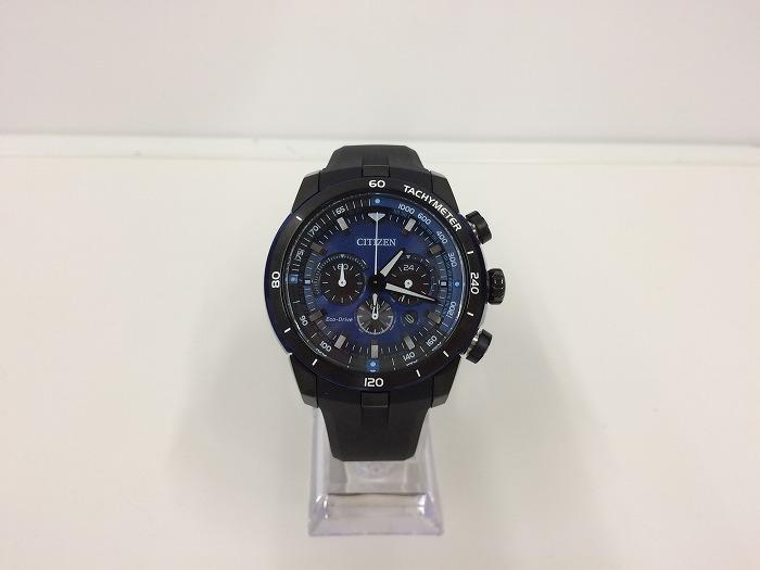 【中古】CITIZEN シチズン メンズ腕時計 エコドライブ ソーラー ブラック CA4155-04L[ic][jggW]