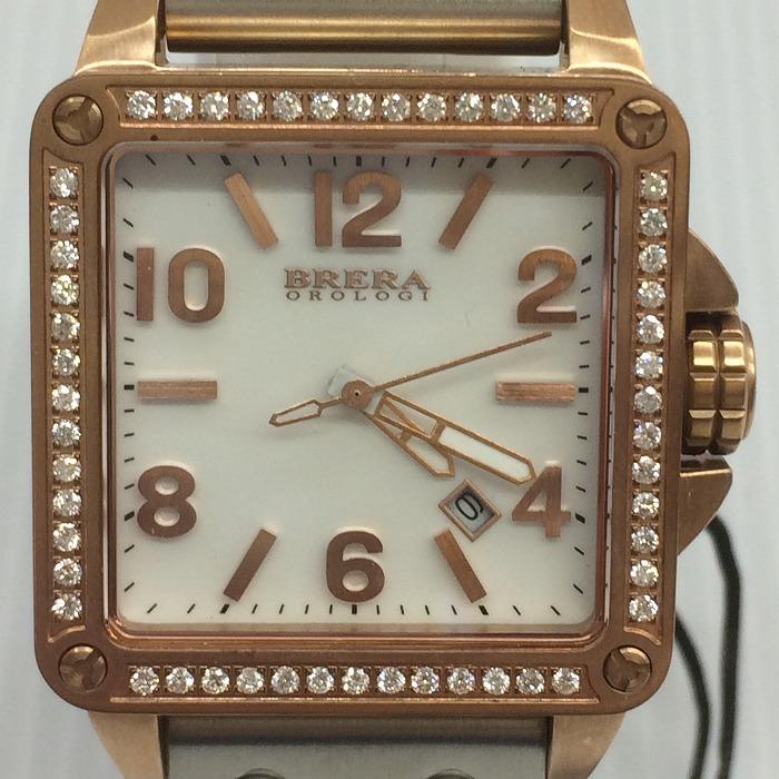 【中古】ブレラオロロジ レディース腕時計 ステラ BHST2RWHRGD クオーツ SS/ラバー ホワイト文字盤 ゴールド/ホワイト[jggW]