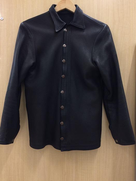 【中古】ファーイースタン・エンスージアスト メンズ レザーディアスキンシャツ ブラック 表記サイズ:M[jggI]