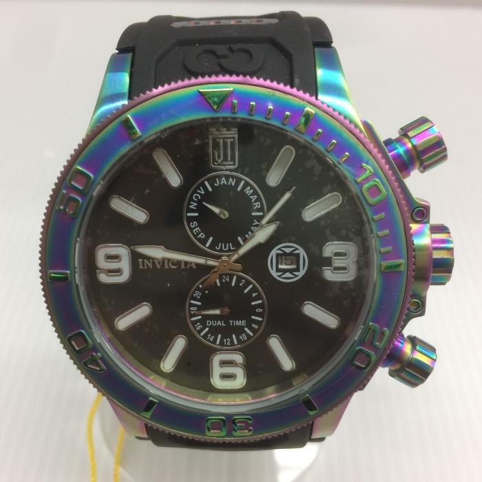 【中古】インビクタ メンズ腕時計 25189 ジェイソンテイラー クオーツ SS/ラバー ブラック[jggW]