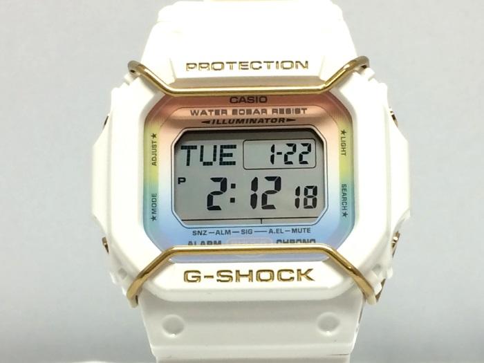 【中古】カシオ レディース腕時計 ベビーG クオーツ ホワイト ラバー DW-D5600LB[jggW]