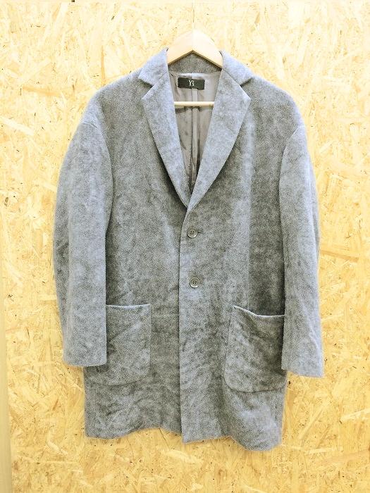 【中古】ワイズ レディース ロングジャケット ウール グレー系 表記サイズ:2[jggI]