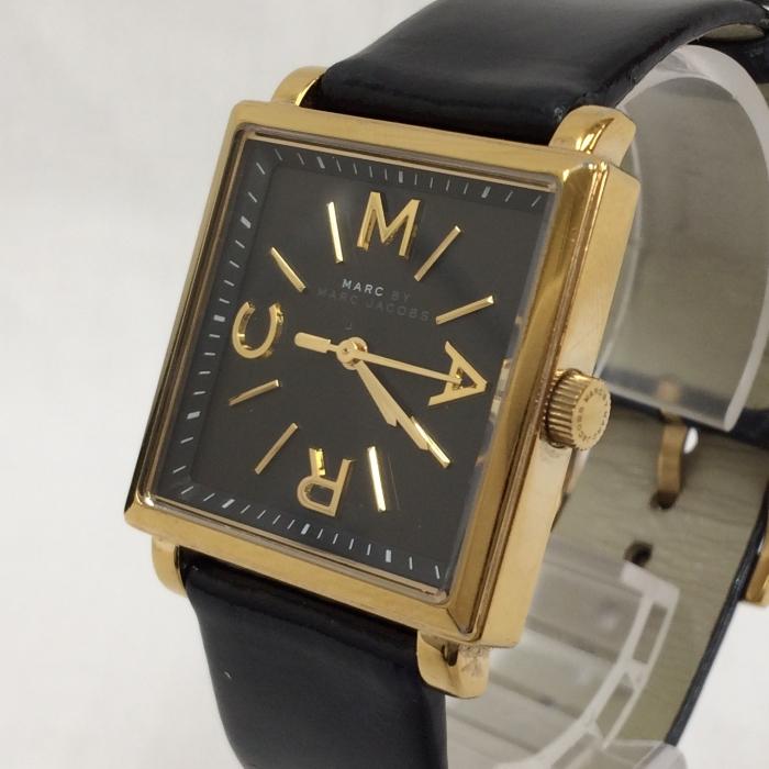 【中古】マークバイマークジェイコブス レディース腕時計 MBM1279 トルーマン クオーツ SS/レザー 黒文字盤 ブラック/ゴールド[jggW]