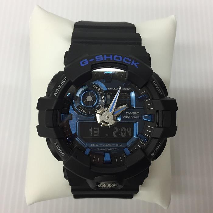 【中古】カシオ G-SHOCK メンズ腕時計 ブラック クオーツ GA-710[jggW]