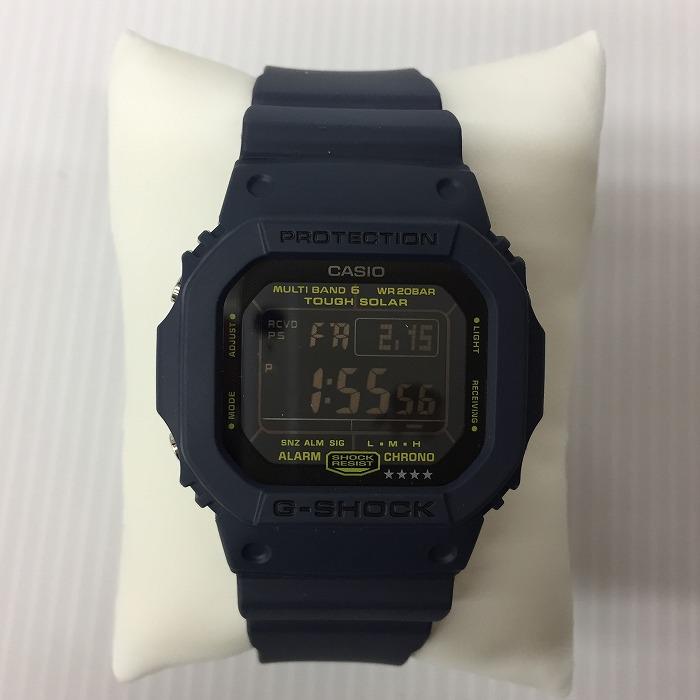 【中古】カシオ G-SHOCK メンズ腕時計 ネイビー 電波ソーラー GW-M5610[jggW]