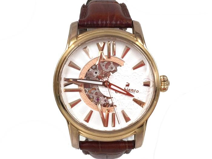 【中古】オロビアンコ オラクラシカ メンズ腕時計 自動巻き SS/レザー 白文字盤 OR-0011-9[jggW]