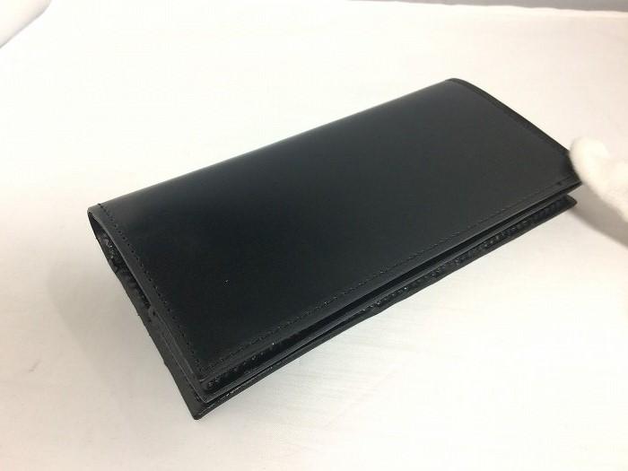 【中古】グレンロイヤル 二つ折り長財布 03-5594 レザー ブラック[jggZ]