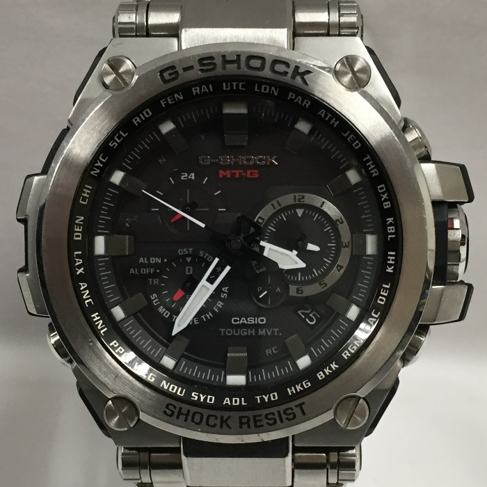 【中古】カシオ G-ショック ソーラー電波腕時計 メンズ シルバー MT-G MTG-S1000D-1AJF[jggW]