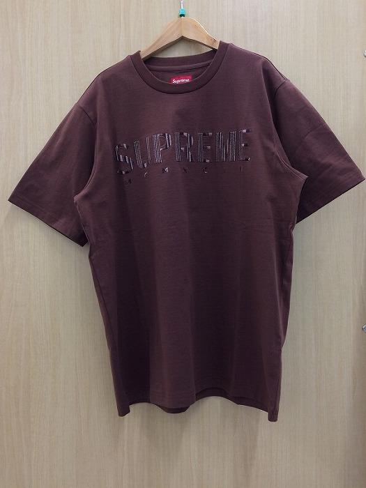 【中古】シュプリーム メンズ 半袖Tシャツ グラディエントロゴ 19SS ブラウン 表記サイズ:M[jggI]