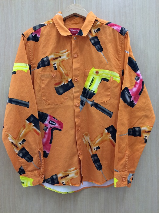 【中古】シュプリーム メンズ ドリルワークシャツ オレンジ 表記サイズ:S[jggI]