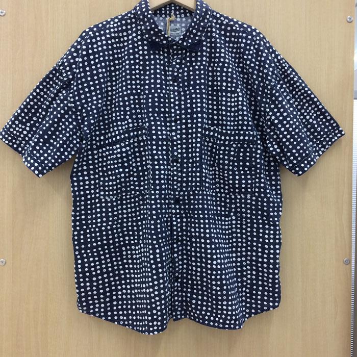 【中古】テンダーロイン K-Seven ドットプリント コットンシャツ ネイビー 表記サイズM メンズ[jggI]
