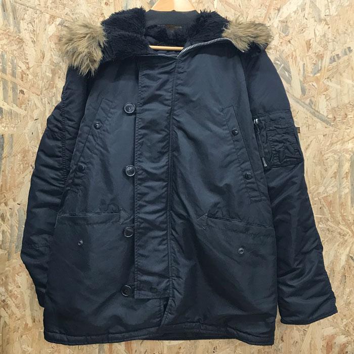 【中古】アルファ ミリタリージャケット 寒冷地仕様 N-3B 20024-01 ブラック メンズ サイズM[jggI]