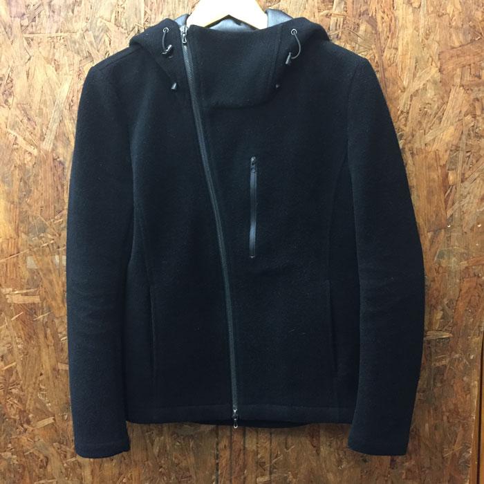 【中古】アタッチメント フーデッドジャケット カシミア混 ウールジャケット ブラック メンズ 表記サイズ1[jggI]