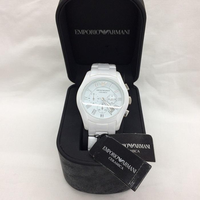【中古】エンポリオアルマーニ メンズ 腕時計 クオーツ ホワイト AR1403[jggw]