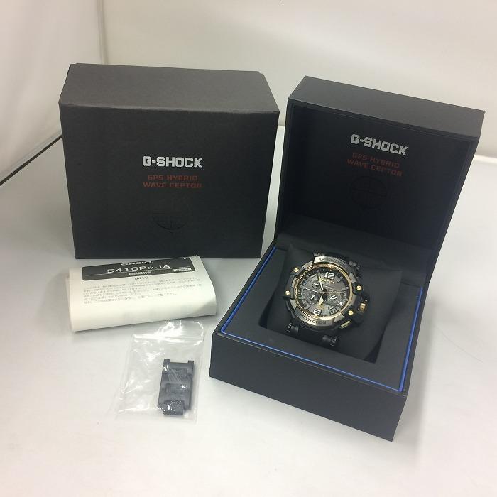 【中古】カシオ Gショック スカイコクピット メンズ腕時計 電波ソーラー ブラック系 GPW 1000[jggW]