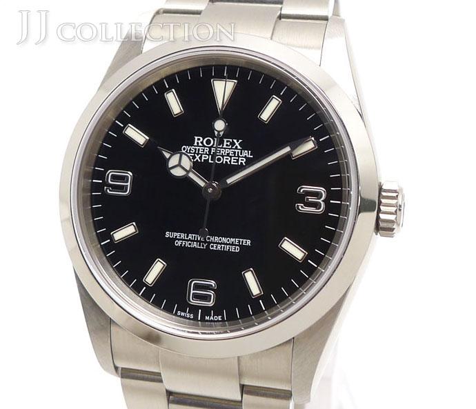 【中古】ROLEX エクスプローラー1 Ref.114270 F番 メンズ腕時計 SS AT(自動巻き) ブラック文字盤