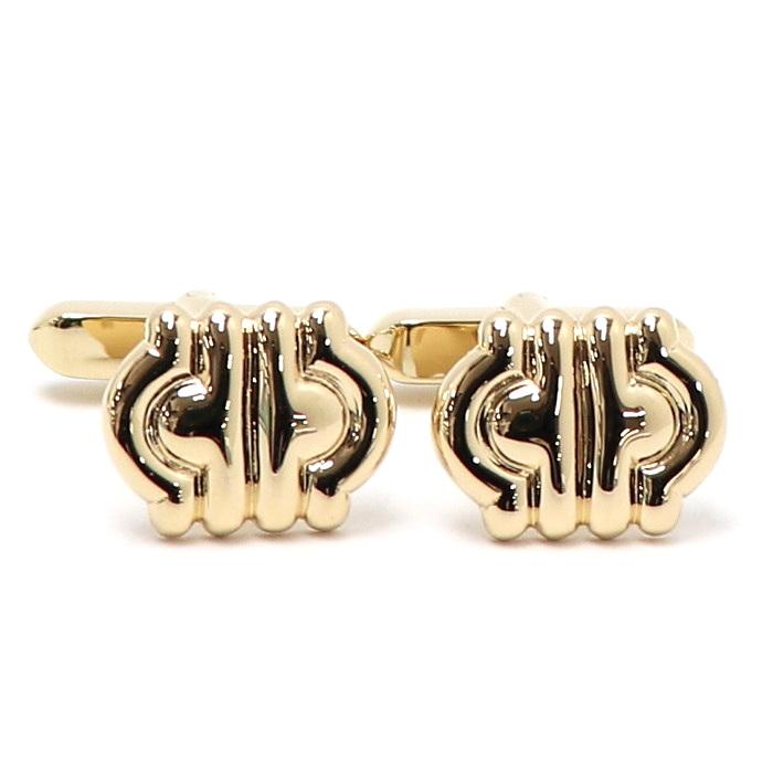 ブルガリ【美品】【jewelry】カフリンクス 【中古】BVLGARI パレンテシ カフス K18YG 12.2g イエローゴールド