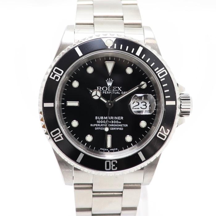【中古】ROLEX メンズ腕時計 サブマリーナデイト SS 自動巻き ブラック文字盤 16610 K番