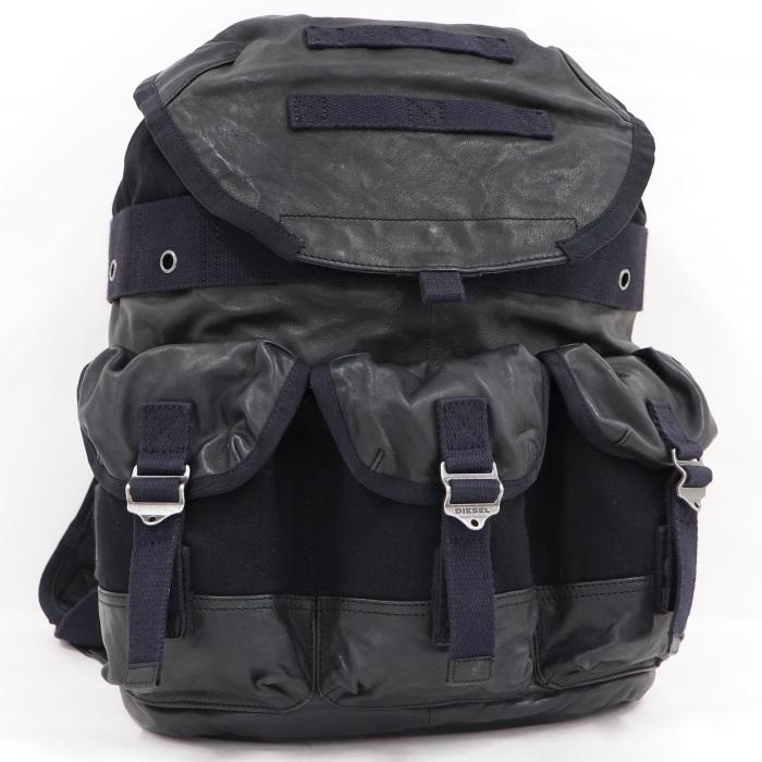 【中古】ディーゼル バックパッグ バッグ リュックサックL ブラック X03621 P0879 H5964